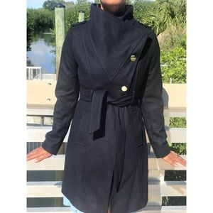 Guess Navy Double Breasted Trench